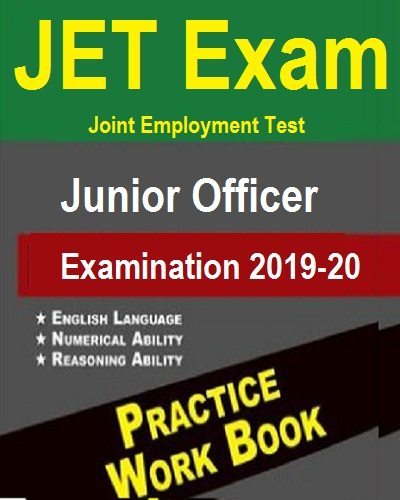JET Junior Officer Examination 2019-20 Practice work book