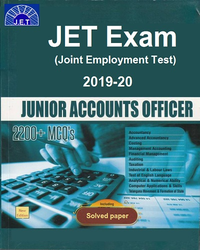 JET Junior Accounts Officer Book 2019-20 Solved papers